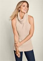 low back turtleneck sweater