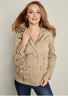 crochet detail jacket