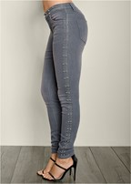 side stud detail jean