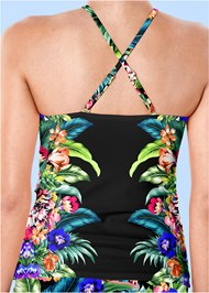 Back view Ruched Side Halter Tankini