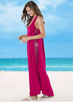 mesh side maxi cover-up
