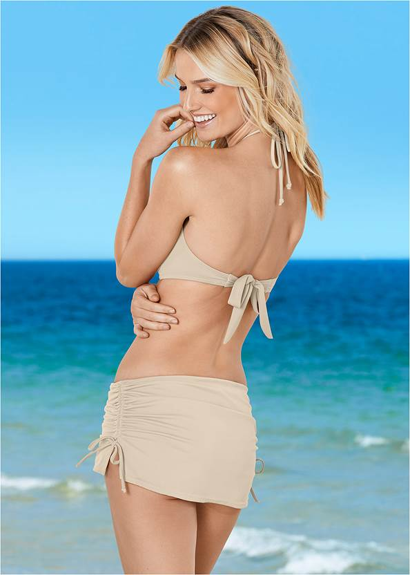 Back View Shapely Ruched Bandeau Top