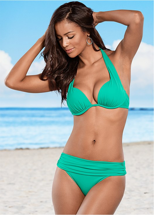 6c9d64caff06a Electric Green MARILYN PUSH UP BRA TOP Bikini | VENUS