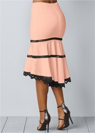 Back view High Low Midi Skirt