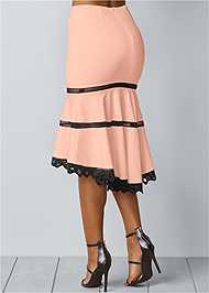 Back view High Low Midi Skirt