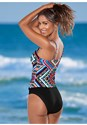 Back view Hanky Hem High Neck Tankini