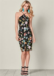 Front view Embroidered Floral Dress