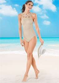 Front view Strappy Detail One-Piece