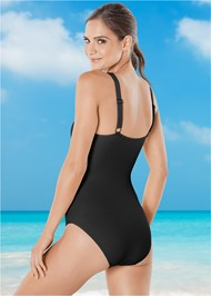 Back view Strappy Detail One-Piece