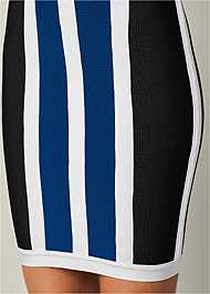 Alternate View Striped Bodycon Mini Dress