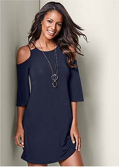 a3e7aad0886b cold shoulder mini dress