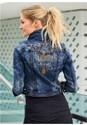 Back View Embellished Jean Jacket