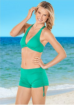 adjustable side swim short