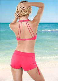 Back View Adjustable Side Swim Short