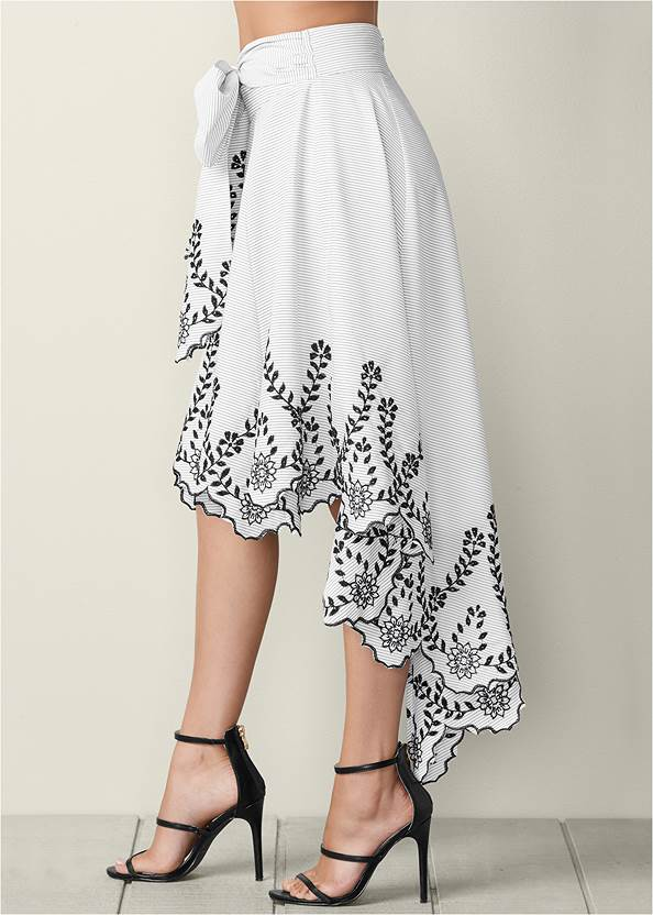 Alternate view Bow Front Embroidered Skirt