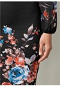 Alternate View Floral Print Bodycon Dress