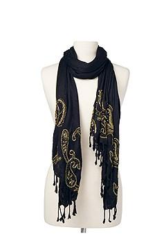 embellished fringe scarf