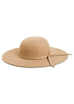 knot detail floppy hat