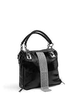 faux fur chain detail bag