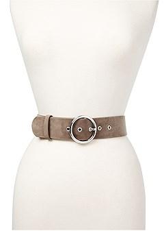 wide velvet belt