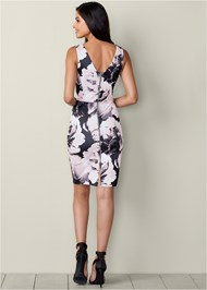 Back View Printed Bodycon Dress