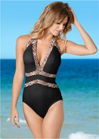 plunge halter one-piece