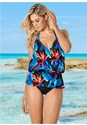Front view Belted Tankini Top