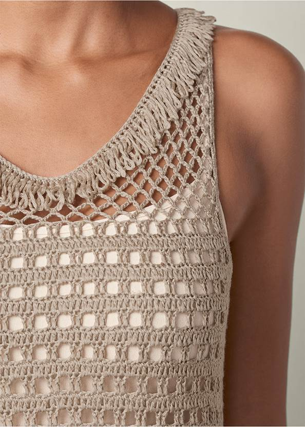 Alternate view Crochet Fringe Sweater