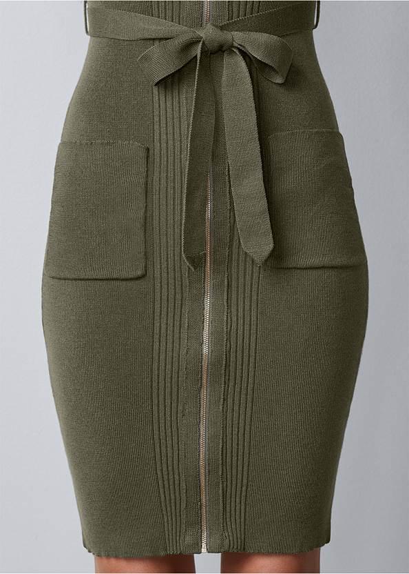 Alternate view Zipper Detail Sweater Dress