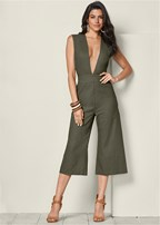 plunging v-neck jumpsuit