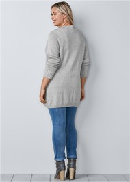 Back View Extra Long Cardigan