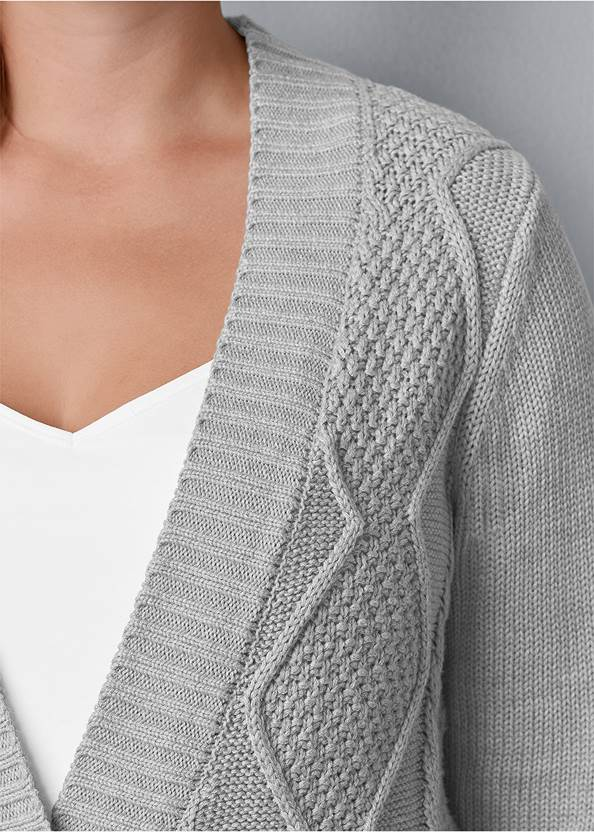 Alternate view Button-Front Knit Cardigan