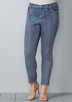 plus size color skinny jeans