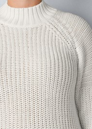 Alternate View Mock Neck Ribbed Sweater