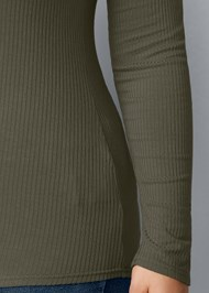 Alternate View Ribbed Henley Top