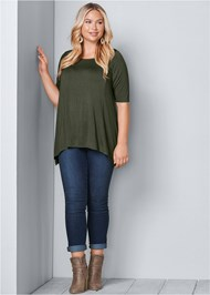 Alternate View Boat Neck A-Line Top