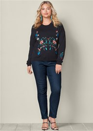 Alternate View Embroidered Sweater
