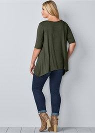 Back View Boat Neck A-Line Top