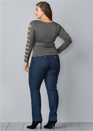 Back View Cut Out Long Sleeve Top