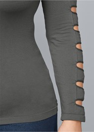 Alternate view Cut Out Long Sleeve Top