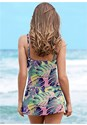 Back view Slimming Skirted One-Piece
