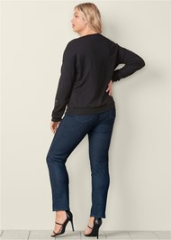 Back View Embroidered Sweater