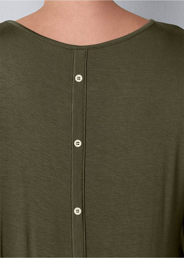 Detail  view Button Back Scoop Neck Top