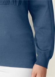 Alternate View Lacing Detail Sweater