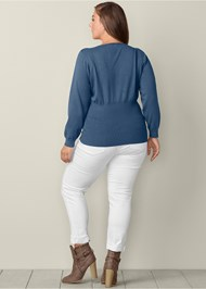 Back View Lacing Detail Sweater