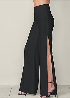 slimming wide slit pant