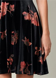 Alternate View Velvet Floral Print Dress