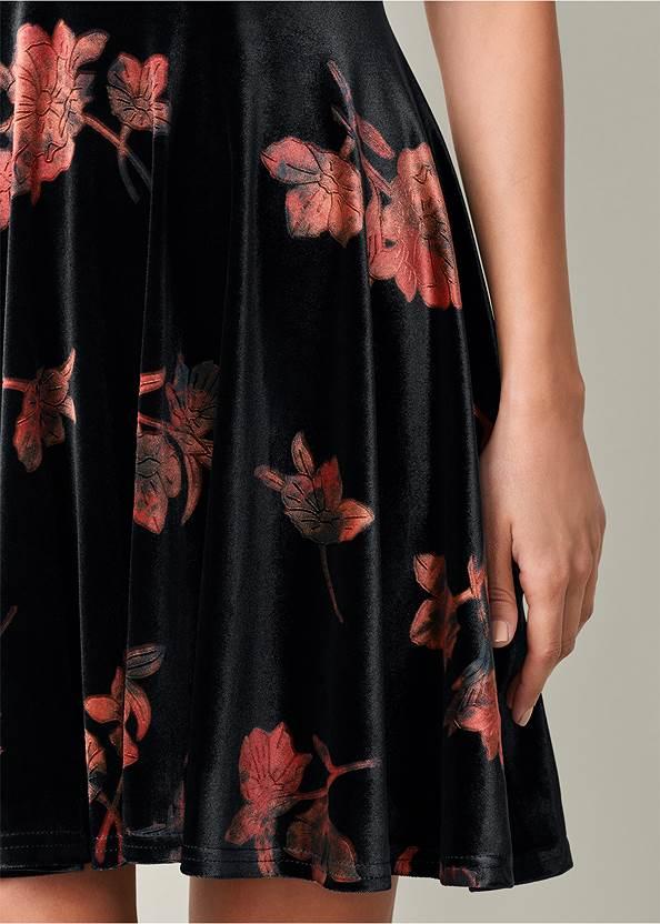 Alternate View Velvet Floral Print Dress
