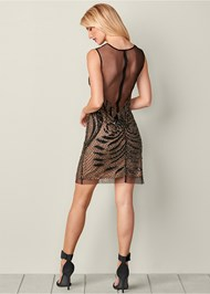 Back view Embellished Bodycon Dress