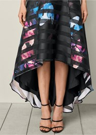 Alternate View Printed High Low Hem Dress